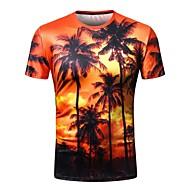 男性用 プリント Tシャツ ストリートファッション 幾何学模様