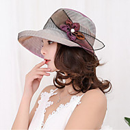 Women's Kentucky Derby Vintage Lace Sun Hat-Solid Colored Lace Beige Purple / Fabric