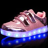 tanie Obuwie dziewczęce-Dla dziewczynek Dla chłopców Buty PU Wiosna Jesień Świecące buty Comfort Tenisówki Spacery LED Tasiemka Szurowane na Casual Na wolnym