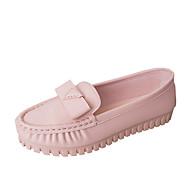 cheap Women's Flats-Women's Shoes PU Fall Comfort Flats Flat Heel Square Toe Rhinestone for Casual White Black Pink Light Blue