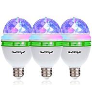 billige Globepærer med LED-YouOKLight 3pcs 3W - E26 / E27 LED-globepærer 3 LED perler Høyeffekts-LED Dekorativ RGB 85-265V