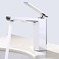 cheap Bathroom Sink Faucets-Deck Mounted Ceramic Valve Single Handle One Hole Chrome, Bathroom Sink Faucet