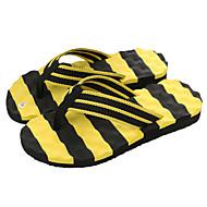 baratos Sapatos Masculinos-Homens Lona Verão Conforto Chinelos e flip-flops Branco / Preto / Black / azul / Preto / Amarelo