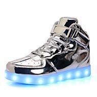 tanie Obuwie chłopięce-Dla chłopców Obuwie PU Wiosna Wygoda / Świecące buty Adidasy Spacery Sznurowane / Haczyk i pętelka / LED na Srebrny / Niebieski / Różowy