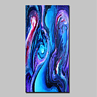 voordelige -Handgeschilderde Abstract Pop Art Verticaal, Modern Kangas Hang-geschilderd olieverfschilderij Huisdecoratie Eén paneel