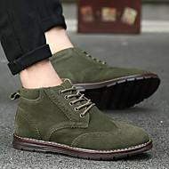 お買い得  男性用靴-男性用 靴 スエード 春 秋 コンフォートシューズ スニーカー のために カジュアル Brown ブルー ダークグリーン
