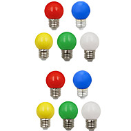 billige Globepærer med LED-10pcs 1W 100lm E26 / E27 LED-globepærer G45 8 LED perler SMD 2835 Dekorativ Hvit Grønn Gul Blå Rød 220-240V