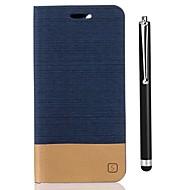 billiga Mobil cases & Skärmskydd-fodral Till Xiaomi Redmi 5A Redmi 4X Korthållare Plånbok med stativ Lucka Fodral Ensfärgat Hårt PU läder för Redmi 5A Xiaomi Redmi 4X
