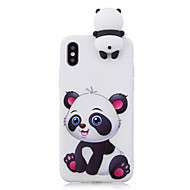 billiga Mobil cases & Skärmskydd-fodral Till Apple iPhone X / iPhone 8 Stötsäker / Mönster / GDS (Gör det själv) Skal Tecknat / 3D-seriefigur / Panda Mjukt TPU för iPhone X / iPhone 8 Plus / iPhone 8