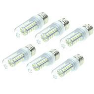 billige Kornpærer med LED-SENCART 6pcs 4W 800-1200lm E14 / G9 / B22 LED-kornpærer T 36 LED perler SMD 5730 Dekorativ Varm hvit / Hvit 220-240V / 12V