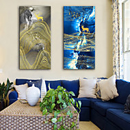 cheap Prints-Stretched Canvas Prints Modern, Two Panels Canvas Vertical Print Wall Decor Home Decoration