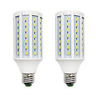 billige Kornpærer med LED-brelong 2 stk dimbar 84led smd5730 mais lys hvit / varm hvit / ac220v / e12 / e27 / b22