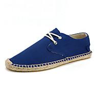 Homens sapatos Algodão Lona Verão Outono Alpargata Conforto Mocassins e Slip-Ons para Casual Escritório e Carreira Branco Preto Azul