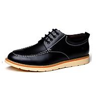 お買い得  メンズオックスフォードシューズ-男性用 靴 レザー 春 / 秋 コンフォートシューズ オックスフォードシューズ ブラック / オレンジ / Brown