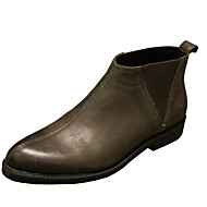 baratos Sapatos Masculinos-Homens Coturnos Pele Napa / Pele Outono / Inverno Conforto Botas Preto / Khaki