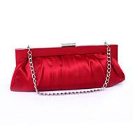 baratos Clutches & Bolsas de Noite-Mulheres Bolsas Seda Bolsa de Festa Tachas Vermelho / Amarelo Esbraquiçado