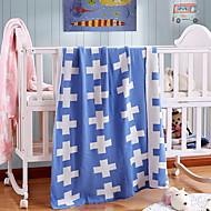 billiga Filtar och plädar-Stickat, Färgat garn Geometrisk Cotton filtar