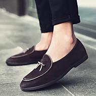 baratos Sapatos Masculinos-Homens Sapatos de Condução Pele Napa / Pele Primavera / Outono Conforto / Formais Mocassins e Slip-Ons Caminhada Preto / Amarelo / Café