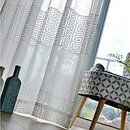 cheap Curtains & Drapes-Printed Living Room Cotton/Polyester metal