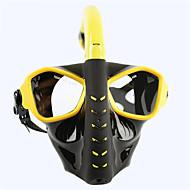 Şnorkel Maskesi Yüz Maskesi Gözlüğü Buğlanma Yapmayan Patlama-Proof İki Pencere - Yüzme Dalış PC - için Yetişkinler Siyah Sarı Mavi