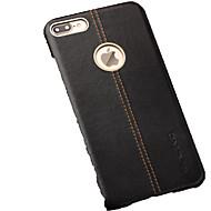 billiga Mobil cases & Skärmskydd-fodral Till Apple iPhone 7 Plus Stötsäker Skal Ensfärgat Hårt Äkta Läder för iPhone 7 Plus