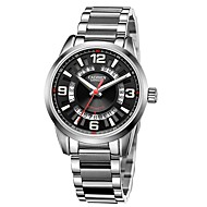 저렴한 -CADISEN 남성용 오토메틱 셀프-윈딩 기계식 시계 패션 시계 스포츠 시계 일본어 달력 방수 캐쥬얼 시계 스테인레스 스틸 밴드 사치 패션 실버