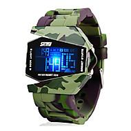 billige Militærur-SKMEI Herre Digital Digital Watch Militærur Sportsur Alarm Kalender Kronograf Vandafvisende LCD Silikone Bånd Kreativ Sej Jadegrøn