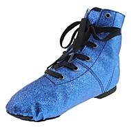 billige Jazz-sko-Herre Jazz-sko Glimtende Glitter Flate Flat hæl Kan spesialtilpasses Dansesko Blå / Trening