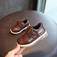 baratos Sapatos de Menino-Para Meninos Sapatos Couro Ecológico Primavera / Outono Conforto Tênis Velcro para Preto / Amarelo / Marron