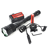 olcso -LED zseblámpák / Búvárlámpa / Kézi elemlámpák LED 6000lm 3 világítás mód Kempingezés / Túrázás / Barlangászat / Mindennapokra /