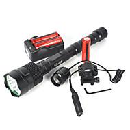halpa -LED taskulamput / Sukellusvalot / Käsivalaisimet LED 6000lm 3 lighting mode Telttailu / Retkely / Luolailu / Päivittäiskäyttöön /