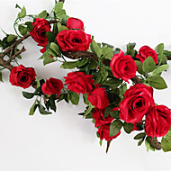 billige Kunstig Blomst-Kunstige blomster 1 Afdeling Europæisk Stil / Bryllup Roser Vægblomst