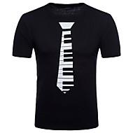 Herrn Street Schick / Punk & Gothic Klub Baumwolle T-shirt, Rundhalsausschnitt Schwarz L / Kurzarm / Frühling / Sommer