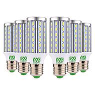 billige Kornpærer med LED-YWXLIGHT® 6pcs 12W 1100-1200 lm E26/E27 LED-kornpærer T 60 leds SMD 5730 Varm hvit Kjølig hvit 85-265V