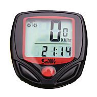 billige Sykkelcomputere og -elektronikk-SD-548A Sykkelcomputer Stopur Vanntett bakgrunnsbelysning LCD Speedometer Forløbet Tid Tredet Multifunksjonell Frys rammeminne Skan SPD -