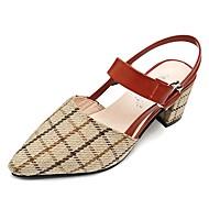 baratos Sapatos Femininos-Mulheres Sapatos Borracha Verão Conforto Sandálias Salto Baixo Preto / Bege