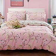 tanie Floral Duvet Okładki-Zestawy kołdra okładka Kwiaty 3 elementy Poly / Cotton 100% bawełna Żakard Poly / Cotton 100% bawełna 1szt kołdrę 1szt Sham 1szt Flat