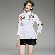 Majica Žene-Ulični šik Izlasci Jednobojni Print Vezeno