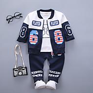Baby Drenge Vintage / Basale I-byen-tøj Ensfarvet / Trykt mønster / Patchwork Trykt mønster Langærmet Bomuld Tøjsæt