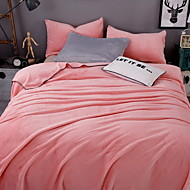 cheap Blankets & Throws-Coral fleece, Reactive Print Solid Colored Cotton/Polyester Blankets