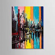billiga Abstrakta målningar-Hang målad oljemålning HANDMÅLAD - Abstrakt Landskap Moderna Duk