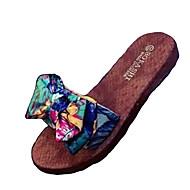 女性用 靴 ポリアミド素材 夏 コンフォートシューズ スリッパ&フリップ・フロップ フラットヒール グリーン / ブルー