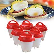 Χαμηλού Κόστους Arts-6pcs σκεύος αυγών σιλικόνης σκληρά βρασμένα χωρίς εργαλεία μαγειρέματος κελύφους