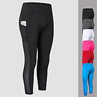 baratos Roupas Esportivas-calças de yoga 3/4 calças justas Secagem Rápida Cintura Média Elasticidade Alta Moda Esportiva Mulheres FORSINING Ioga Exercício e