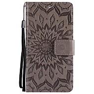billiga Mobil cases & Skärmskydd-fodral Till Sony Xperia Z5 Mini Xperia Z5 Plånbok Lucka Fodral Ensfärgat Hårt PU läder för Sony Xperia Z3 Sony Xperia Z3 Mini Sony Xperia