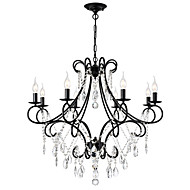 tanie -LightMyself™ 8 świateł Świeca Żyrandol Światło rozproszone Malowane wykończenia Metal 110-120V / 220-240V Nie zawiera żarówek / E12 / E14