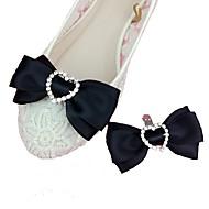 お買い得  靴用品-2本 ラインストーン デコレーションアクセント 女性用 オールシーズン 結婚式 バケーション ブラック ブルー ピンク