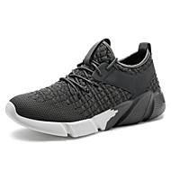baratos Sapatos Masculinos-Homens Arrastão / Couro Ecológico Outono Conforto Tênis Corrida / Caminhada Preto / Cinzento Escuro / Azul