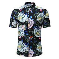 Homens Camisa Social Moda de Rua Boho Estampado,Floral Estampa Colorida
