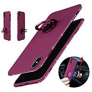 billiga Mobil cases & Skärmskydd-fodral Till Apple iPhone X iPhone 8 Strass Ringhållare Skal Enfärgad Mjukt TPU för iPhone X iPhone 8 Plus iPhone 8 iPhone 7 Plus iPhone 7